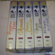Cine: LOTE DE PELICULAS COLECCION FRED ASTAIRE TOTAL 5 TITULOS EN VHS. Lote 267636834