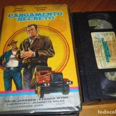 Cine: CARGAMENTO SECRETO - DAVID JANSSEN, KEENAN WYNN, LEE PURCELL, LEONARD HORN - VHS. Lote 182641397