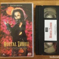 Cine: VHS - MORTAL ZOMBIE - DIRIGIDA POR BRIAN YUZNA - STRONG VIDEO. Lote 182690268