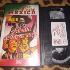 Cine: VHS- SI ADELITA SE FUERA CON OTRO- JORGE NEGRETE GLORIA MARIN- COLECCIÓN VIVA MÉXICO. Lote 182760716