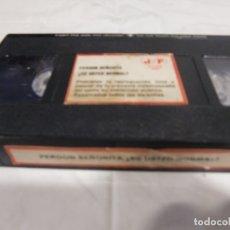 Cine: VHS ORIGINAL / PERDON SEÑORITA ¿ES USTED NORMAL? (SOLO CINTA). Lote 182883441