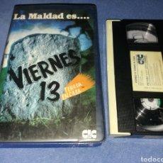 Cine: VIERNES 13 TERROR EN CASA- VHS. Lote 60688283