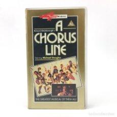 Cine: A CHORUS LINE MICHAEL DOUGLAS TERRENCE MANN ALYSON REED AUDREY LANDERS 1985 PELICULA ORIGINAL VHS. Lote 182915688