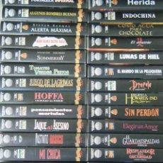 Cine: LOTE 35 CINTAS VHS AÑOS 90. INDOCHINA, INSTINTO BÁSICO, SIN PERDÓN,.... Lote 183092678