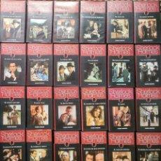 Cine: SERIE ''LAS AVENTURAS DE SHERLOCK HOLMES'' - COLECCIÓN DE 26 CAPÍTULOS (VHS) - PLANETA DEAGOSTINI. Lote 196135602