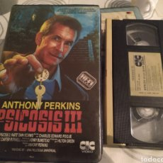 Cine: VHS - PSICOSIS III (PARTE 3) (1986) - ANTHONY PERKINS DIANA SCARWID JEFF FAHEY VHS 1ª EDICION. Lote 184496256