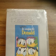 Cine: VHS LO MEJOR DE DONALD, WALT DISNEY TESOROS. PRECINTADO. Lote 184648710
