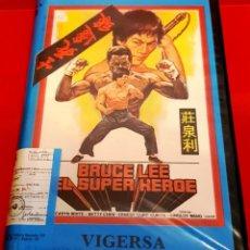 Cine: BRUCE LEE EL SUPER HEROE - VIGERSA EDICION. Lote 184669976