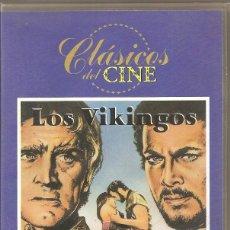 Cine: LOS VIKINGOS. KIRK DOUGLAS. VHS. Lote 184834296