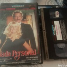 Cine: NADA PERSONAL- VHS- SUZANNE SOMERS- DONALD SUTHERLAND. Lote 184845876
