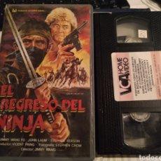Cine: VHS ORIGINAL: EL REGRESO DEL NINJA / ARTES MARCIALES - NINJAS / JIMMY WANG YU / DESCATALOGADA. Lote 184895758