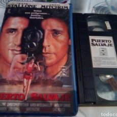 Cine: PUERTO SALVAJE - VHS- FRANK STALLONE - CHRIS MITCHUM. Lote 185019605