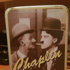 Cine: CAJA METÁLICA CON VHS DE CHAPLIN (EDICIÓN COLECCIONISTA. MUY LIMITADA). Lote 185697528