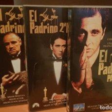 Cine: TRILOGÍA EL PADRINO VHS (MARLON BRANDO, ROBERT DE NIRO, AL PACINO). Lote 185698233