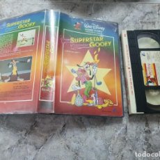 Cine: VHS - SUPERSTAR GOOFY - WALT DISNEY - FILMAYER 1987. Lote 185712501