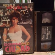 Cine: VHS - ESCANDALO EN LA CIUDAD - RAQUEL WELCH / RONNY COX. Lote 186273940