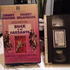 Cine: VHS - BUCK Y EL FARSANTE - SIDNEY POITIER HARRY BELAFONTE RUBY DEE CAMERON MITCHELL - 1 EDIC. Lote 187127158