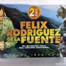 Cine: FAUNA IBERICA 2ª PARTE/FELIX RODRIGUEZ DE LA FUENTE/MALETIN CON 18 VHS/PRECINTADOS¡¡¡.. Lote 187204052