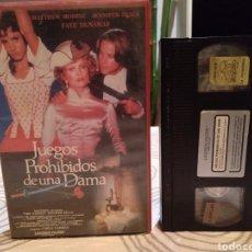 Cine: JUEGOS PROHIBIDOS DE UNA DAMA (1988) - CARLO VANZINA MATTHEW MODINE JENNIFER BEALS FAYE DUNAWAY VHS. Lote 187643585