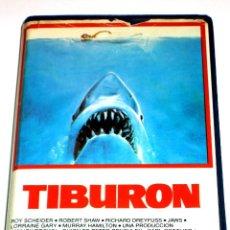 Cine: TIBURON (1975) - STEVEN SPIELBERG ROY SCHEIDER ROBERT SHAW RICHARD DREYFUSS VHS 1ª EDICIÓN. Lote 107468723