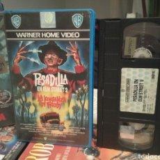 Cine: PESADILLA EN ELM STREET 2 LA VENGANZA DE FREDDY (1985) - JACK SHOLDER ROBERT ENGLUND VHS 1ª EDICIÓN. Lote 189125720
