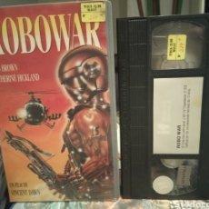 Cine: ROBOWAR- VHS- BRUNO MATTEI- 1988- DESCATALOGADA. Lote 189126097