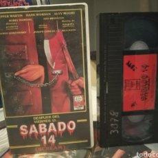 Cine: VHS SABADO 14 (SCREAM) - SLASHER 80'S DIR BYRON QUISENBERRY CON PEPPER MARTIN HANK WORDEN ALVY MOORE. Lote 189129075