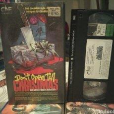 Cine: NO ABRIR HASTA NAVIDAD (1984) - EDMUND PURDOM ALAN LAKE BELINDA MAYNE GERRY SUNDQUIST VHS. Lote 189129238