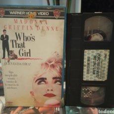 Cine: QUIEN ES ESA CHICA (1987) - JAMES FOLEY MADONNA GRIFFIN DUNNE HAVILLAND MORRIS VHS. Lote 189166018