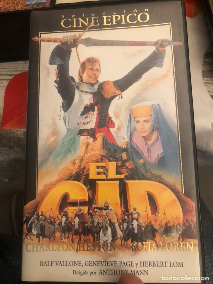 Cine: Lote de 6 películas VHS, cine épico - Foto 2 - 189586548