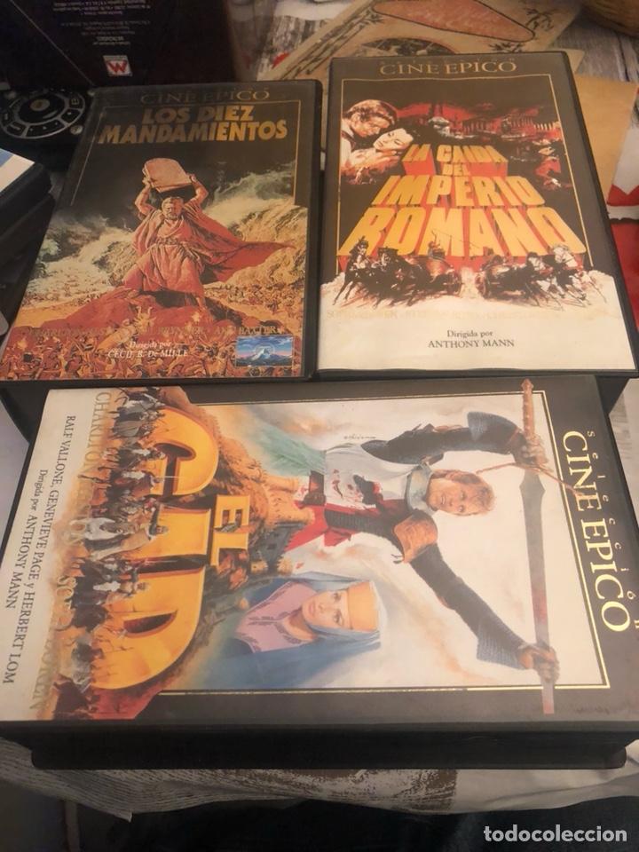 LOTE DE 6 PELÍCULAS VHS, CINE ÉPICO (Cine - Películas - VHS)