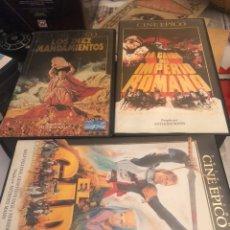 Cine: LOTE DE 6 PELÍCULAS VHS, CINE ÉPICO. Lote 189586548