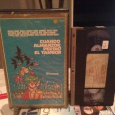Cine: CUANDO ALMANZOR PERDIO EL TAMBOR - LUIS Mª DELGADO ANTONIO OZORES RAFAELA APARICIO- VHS 1 EDIC. Lote 189795073
