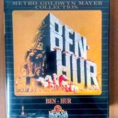 Cine: BEN-HUR - MGM - ED ESTUCHE GRAN FORMATO 2 VHS. Lote 189927450