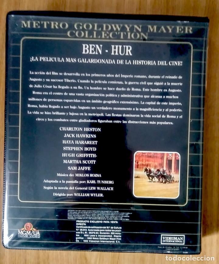 Cine: BEN-HUR - MGM - ED ESTUCHE GRAN FORMATO 2 VHS - Foto 3 - 189927450