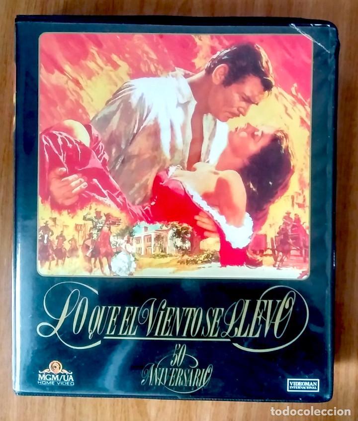 LO QUE EL VIENTO SE LLEVÓ - MGM - ED 50 ANIVERSARIO- ESTUCHE GRAN FORMATO 2 VHS (Cine - Películas - VHS)