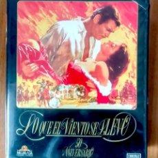 Cine: LO QUE EL VIENTO SE LLEVÓ - MGM - ED 50 ANIVERSARIO- ESTUCHE GRAN FORMATO 2 VHS. Lote 189927691