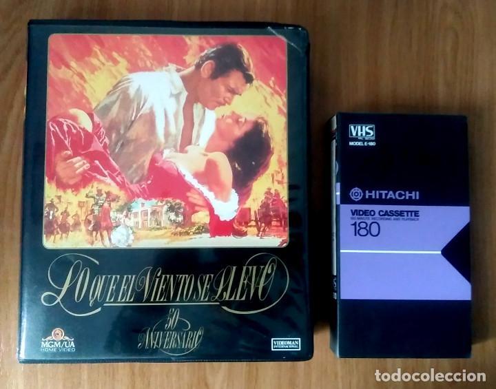 Cine: LO QUE EL VIENTO SE LLEVÓ - MGM - ED 50 ANIVERSARIO- ESTUCHE GRAN FORMATO 2 VHS - Foto 2 - 189927691