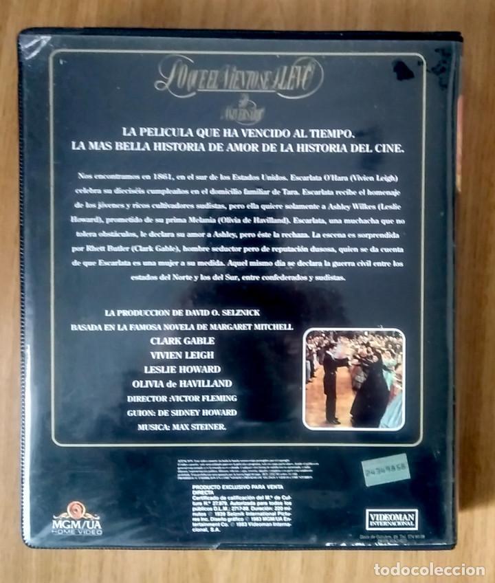 Cine: LO QUE EL VIENTO SE LLEVÓ - MGM - ED 50 ANIVERSARIO- ESTUCHE GRAN FORMATO 2 VHS - Foto 3 - 189927691