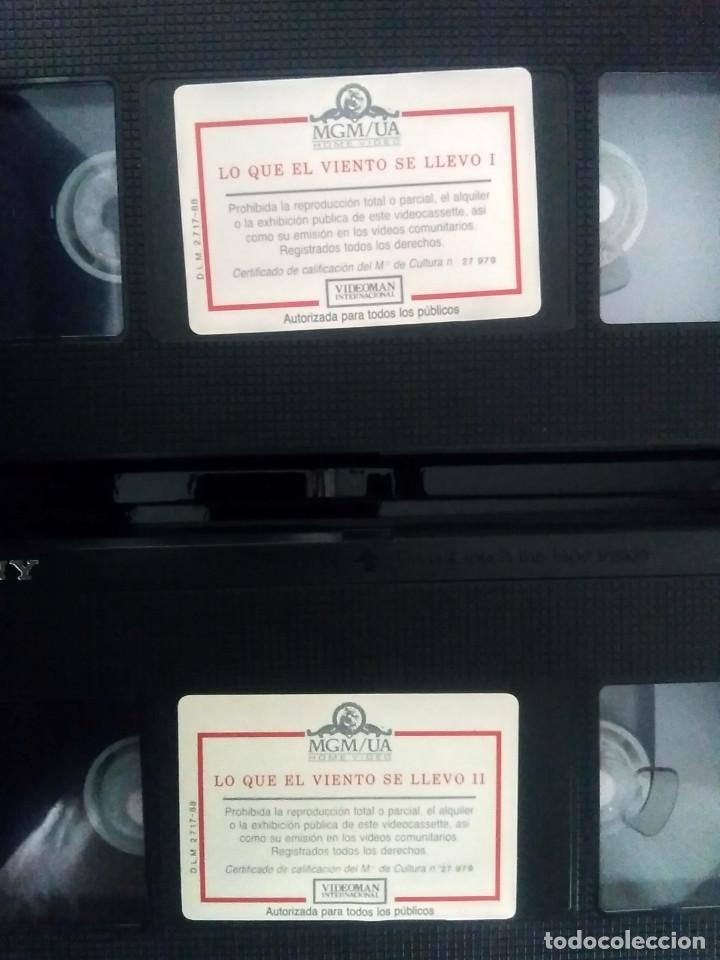 Cine: LO QUE EL VIENTO SE LLEVÓ - MGM - ED 50 ANIVERSARIO- ESTUCHE GRAN FORMATO 2 VHS - Foto 8 - 189927691