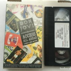 Cine: BON JOVI ACCESS ALL AREAS A ROCK & ROLL ODYSSEY VHS MUSICAL 1990 MADE IN SPAIN KREATEN. Lote 190043477
