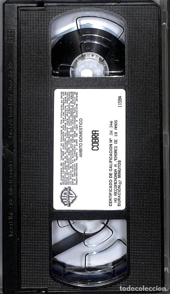 VHS COBRA SYLVESTER STALLONE (Cine - Películas - VHS)