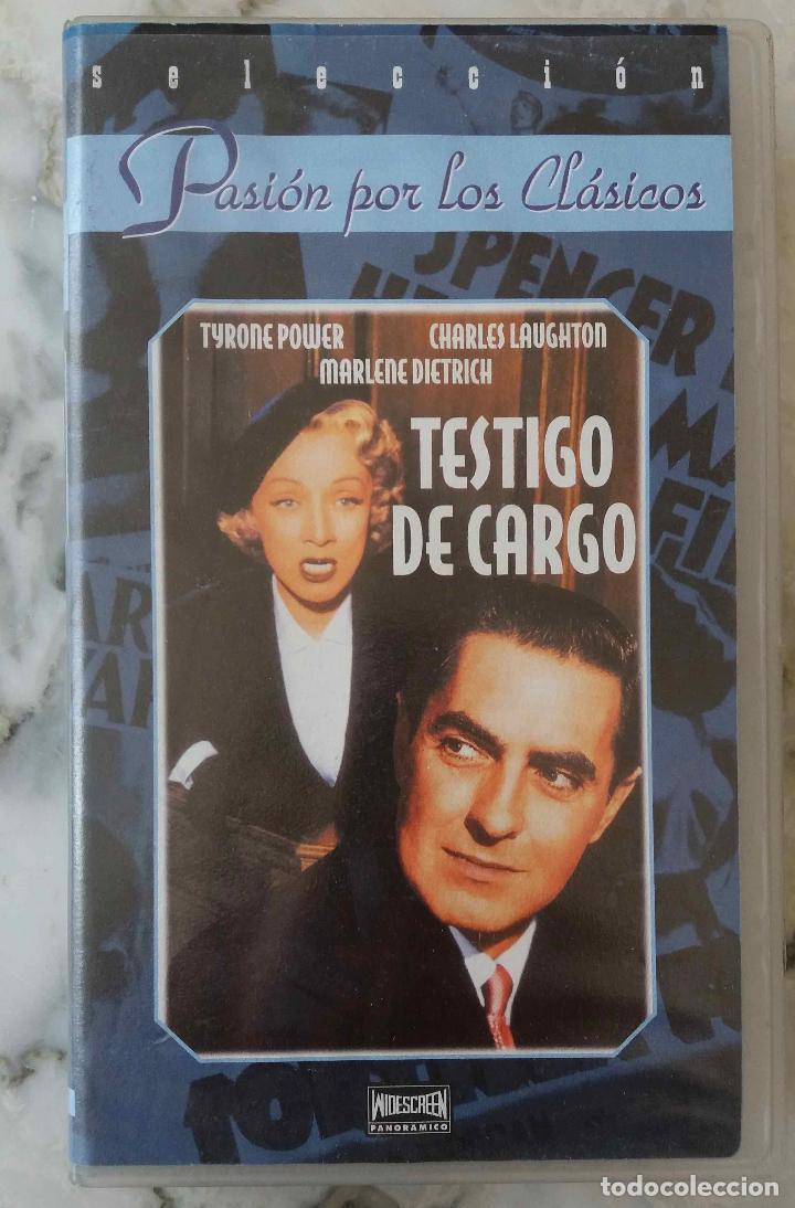 TESTIGO DE CARGO. MARLENE DIETRICH. VHS (Cine - Películas - VHS)