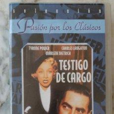 Cine: TESTIGO DE CARGO. MARLENE DIETRICH. VHS. Lote 190217927