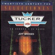 Cine: TUCKER. UN HOMBRE Y SU SUEÑO. VHS. Lote 191214038
