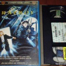 Cine: RATBOY - VHS 1ª EDICION WARNER VIDEOCLUB. Lote 191332611