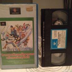 Cine: TRES POLIS PELIGROSOS EN NUEVA YORK (1981) MICHELE MASSIMO TARANTINI EDWIGE FENECH ALVARO VITALI VHS. Lote 192295841