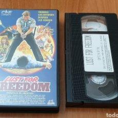 Cine: VHS - LUST FOR FREEDOM (ANSIOSAS DE LIBERTAD) TROMA RAREZA. Lote 193272652