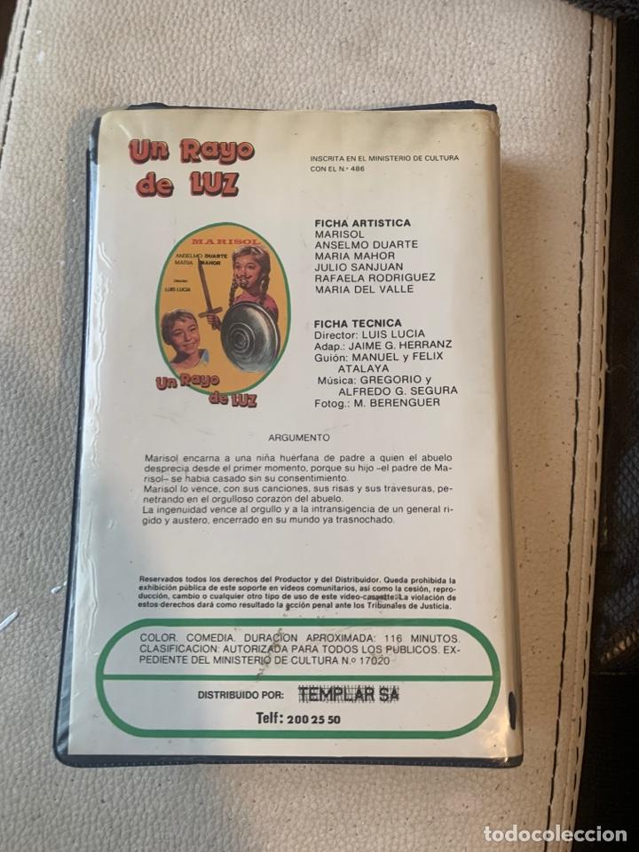 Cine: Un rayo de luz primera edición Marisol VHS - Foto 3 - 193308020