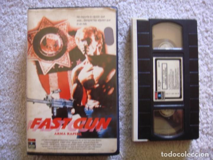 VHS - FAST GUN (ARMA RAPIDA) - 1988 - RICK HILL, KAZ GARAS - DIR. CIRIO H. SANTIAGO (Cine - Películas - VHS)